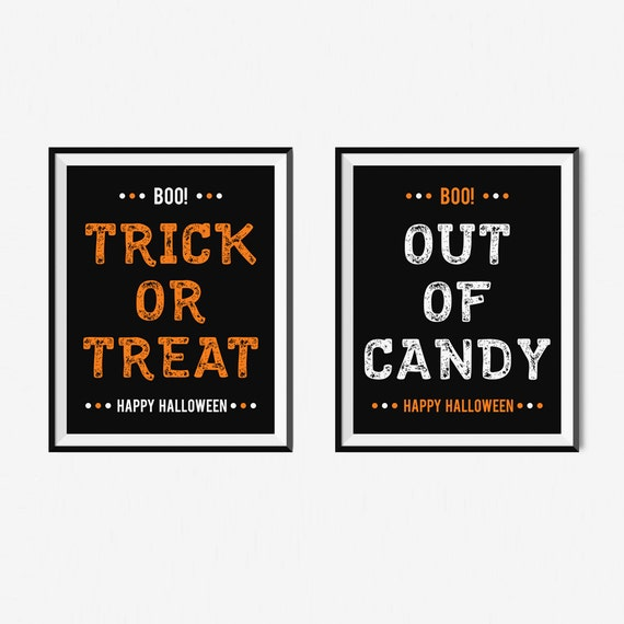 graphic regarding Halloween Signs Printable identify Halloween Print, Printable Halloween Signs or symptoms, Prompt Obtain Halloween Decor, Halloween Printables, Trick Or Deal with Print, Out Of Sweet Indicator