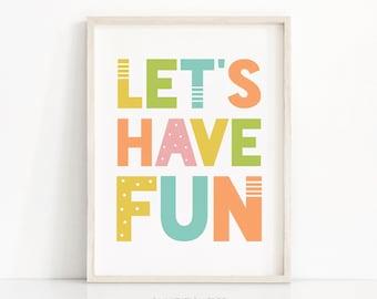 Printable Nursery Wall Art, Digital Download Nursery Print, Kids Print, Playroom Decor, Kids Wall Art, Playroom Print, Neutral Nursery Decor