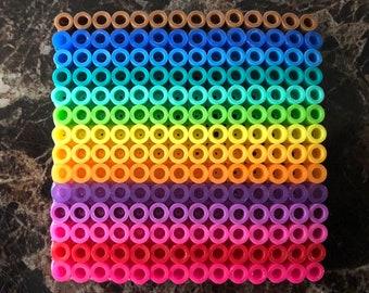 Pride square beaded magnet