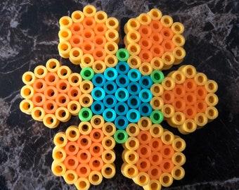 Flower beaded magnet