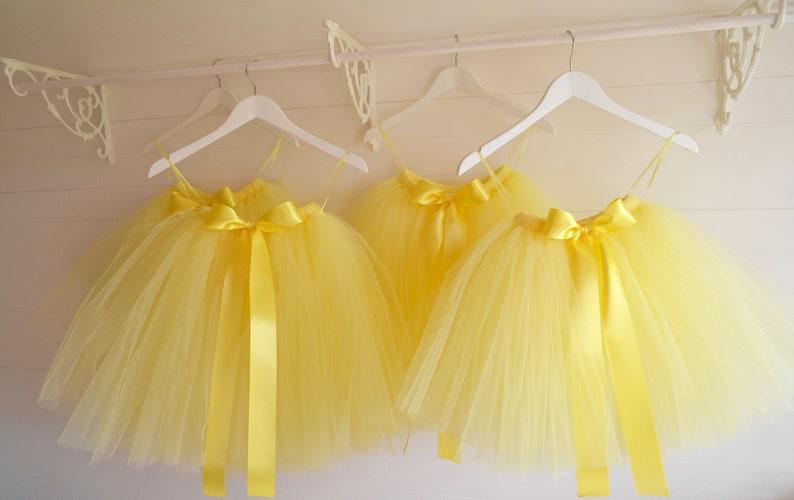 591ef71a2 Tutu girls tutu lemon tutu flower girl tutu ballet tutu | Etsy