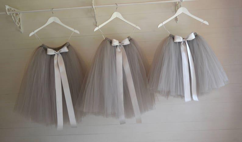 e7cc817ac Flower girls grey tutu skirt flower girl dress grey tutu for | Etsy