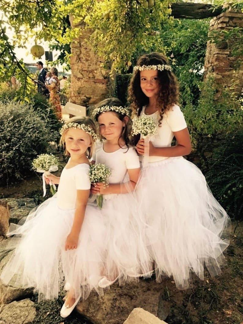 67c76ddf7 Tutu White tutu flower girls tutu Flower Girl dress tulle   Etsy