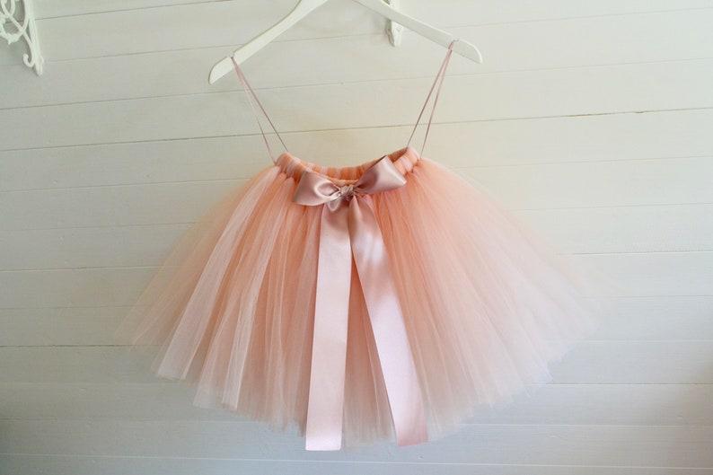 Blush Nude Tutu Flower Girl Nude Tulle Skirt Flower Girl