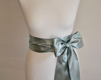Wedding bridal sash, satin sash, bridal belt, satin ribbon sash, silver sash, wedding belt, flower girl sash, bridesmaid belt, bridal ribbon