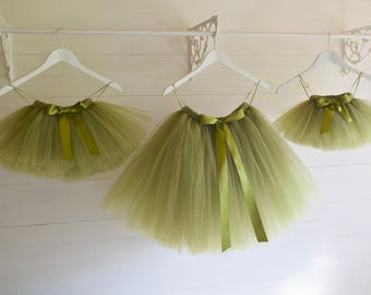 Girls tulle skirt, flower girl dress, green tutu skirt, tutu, flower girl tutu, baby tutu, tulle skirt, tulle tutu, birthday party outfit