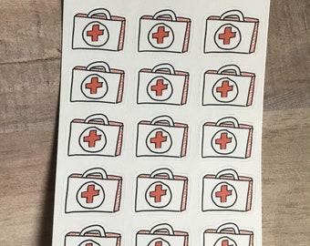 Doctor Bag Stickers - Dr Apt - Work -Medical