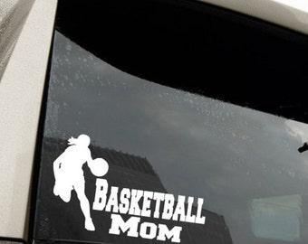 Basketball, Vinyl decal, Auto decal, Basketball Mom, Girls basketball, Window Sticker, School, Sport, Tumbler decal, Yeti decal, Gift