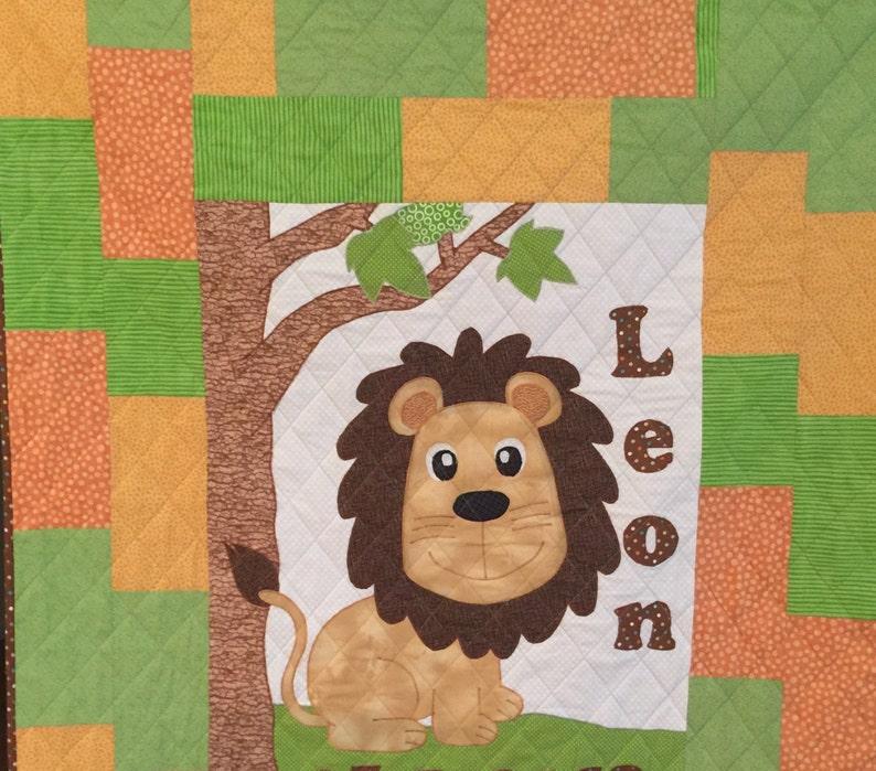 07bc5f1b76395 Handcrafted Custom Baby Quilt: lion quilt, safari nursery, minky baby  blanket, gender neutral baby, lion blanket, baby bedding, jungle