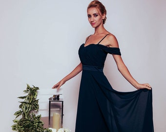 Sweetheart Off Shoulder Bridesmaid Dress- available in 35 Colours-