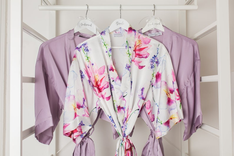 98f3e34cc4 Floral Dressing Gown   Robe by Matchimony Bride Bridesmaid