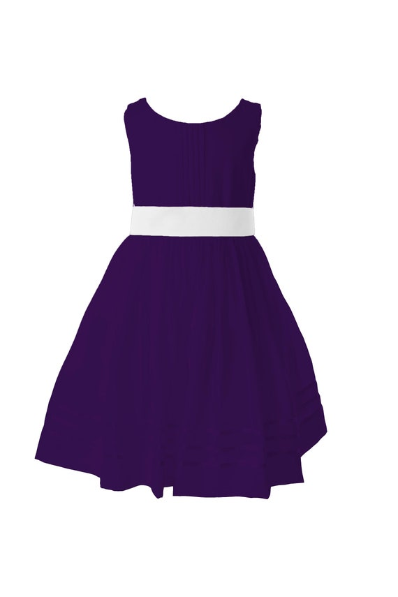 Deep purple flower girl dress purple party dress with etsy image 0 mightylinksfo