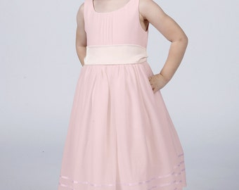 Pale Pink Flower Girl Dress with Complimentary Sash