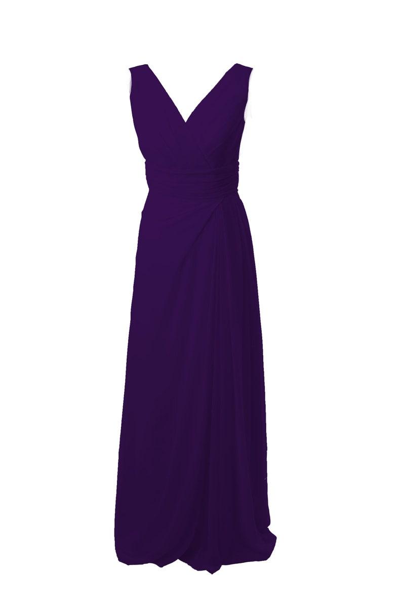 Deep Purple Classic Long BridesmaidProm Dress by Matchimony