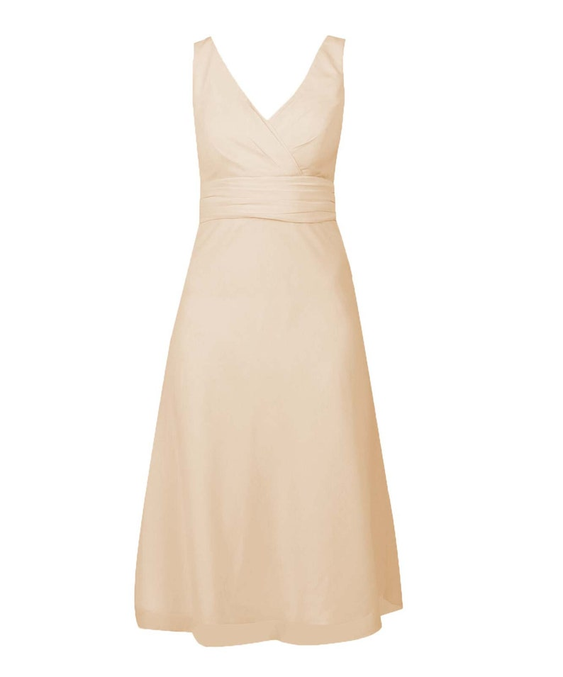 69cf8209edb Champagne Classic Short Bridesmaid Dress with Straps  Prom