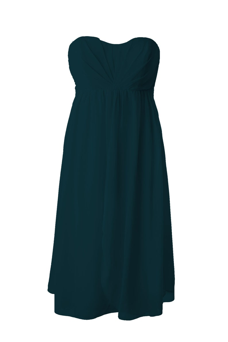 0b0dde50e86 Teal Convertible Multiway Bridesmaid Dress Short Knee Length