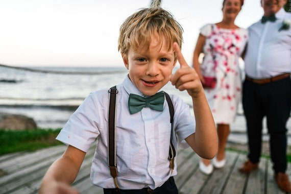 Mint Page Boy Tie for Wedding by Matchimony