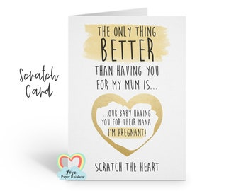 you're going to be a grandma scratch card, pregnancy reveal scratch card, I'm pregnant, grandma reveal, nana card, nanny scratch card