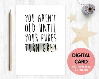 printable birthday card funny birthday card printable rude birthday card printable inappropriate birthday card grey pubes
