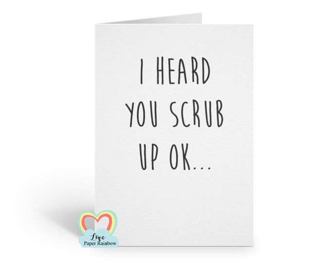 will you be my bridesmaid card, will you be my best man card, will you be my groomsman card, scrub up ok, funny bridesmaid card