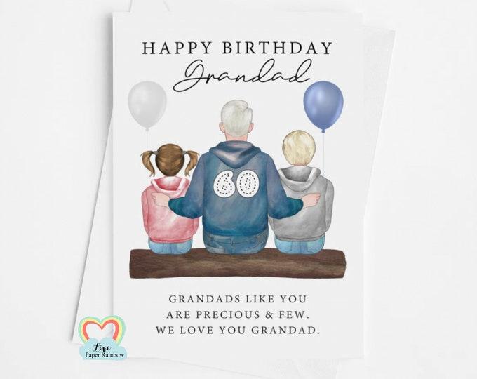 grandad birthday card, grandad 60th birthday card, personalised grandad card, grandad 60th birthday card, from the grandchildren