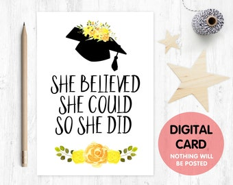 Graduation Card Printable Etsy