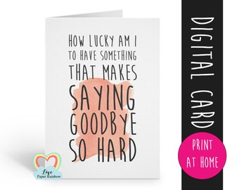 leaving card printable retirement card instant download emigrating goodbye winnie the pooh quote job promotion love paper rainbow miss you