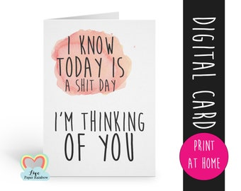 PRINTABLE cards, thinking of you card printable, thinking of you instant download, sympathy card, bereavement, pet loss, dog sympathy card
