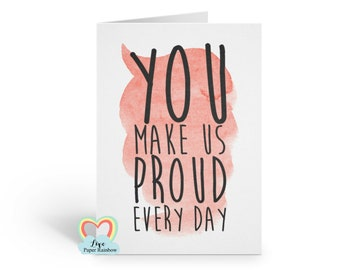 we are proud of you card, proud card, congratulations card, graduation card, well done card, so proud, proud quote card