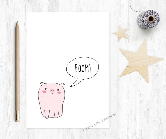graduation card funny congrats card well done greeting card pass driving test congratulations card boom kids love paper rainbow pig
