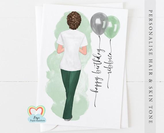 occupational therapist birthday card, personalised birthday card for OT, OT birthday card