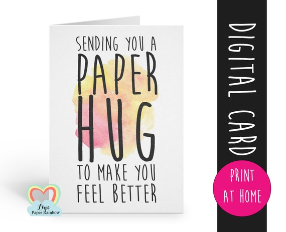 hug card printable thinking of you instant download virtual hug quarantine social distance distancing sending you a paper hug get better