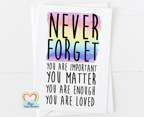 mental health card, positive quote, motivational card, motivational quote, you are enough, you are loved, affirmation card, you matter