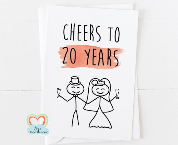 20th wedding anniversary card, 20th anniversary, 20 years together, 20th wedding anniversary gift, personalised anniversary card