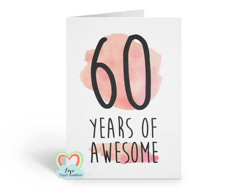 60th Birthday Card Funny 60 Years Of