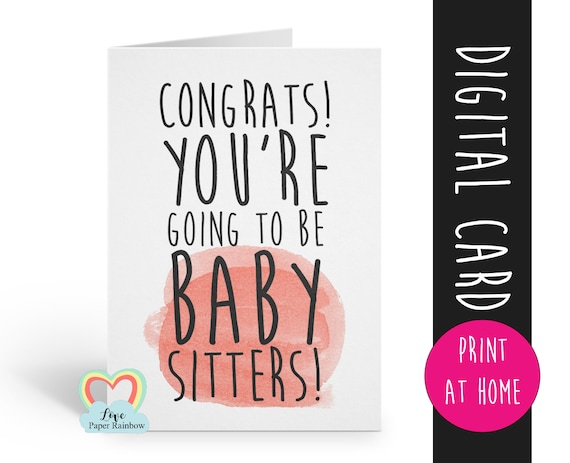 PRINTABLE funny pregnancy announcement you're going to be grandparents instant download i'm pregnant we're expecting baby sitters