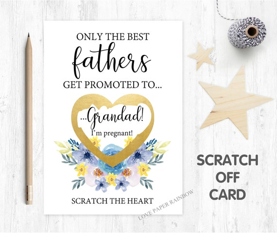 i'm pregnant, pregnancy reveal pregnancy announcement pregnancy scratch card i'm pregnant scratch card you're going to be a grandad promoted