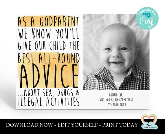 personalized godparents card printable will you be my godfather godmother proposal godmother photo card funny godparent proposal advice