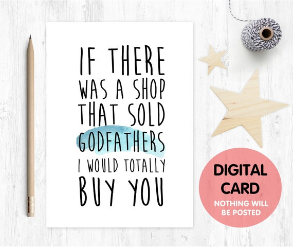 PRINTABLE godfather card, will you be my godfather card printable, godfather proposal printable, funny godfather card printable