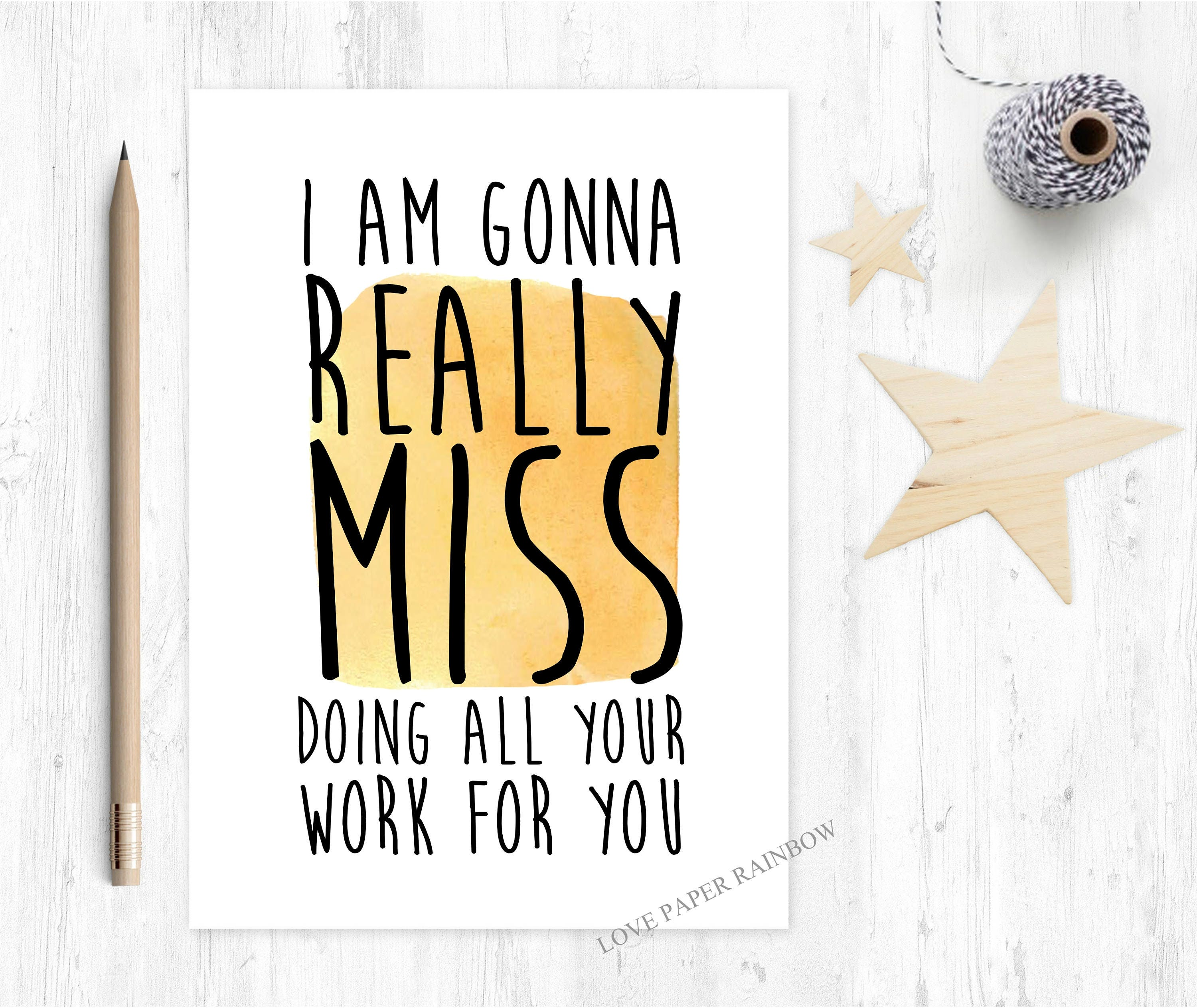 Funny Leaving Card For Colleague Sorry Youre Leaving Etsy