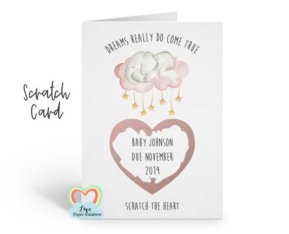 pregnancy reveal scratch card, i'm pregnant scratch card, pregnancy announcement, you're going to be grandparents, baby reveal scratch card
