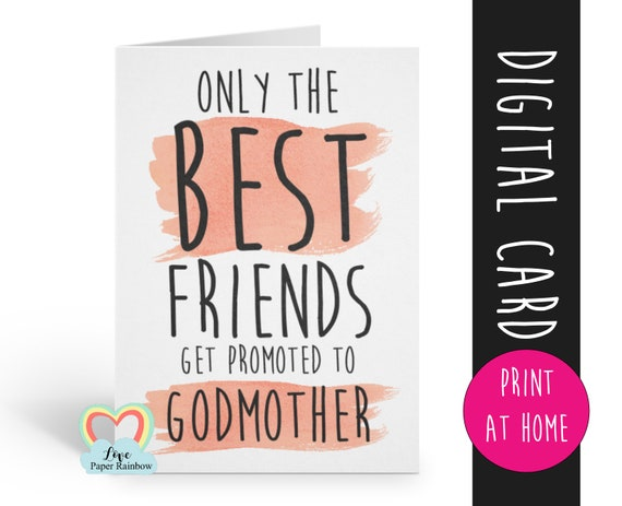 PRINTABLE will you be my godmother card, godmother card, printable godmother card, will you be my godmother card printable, friend