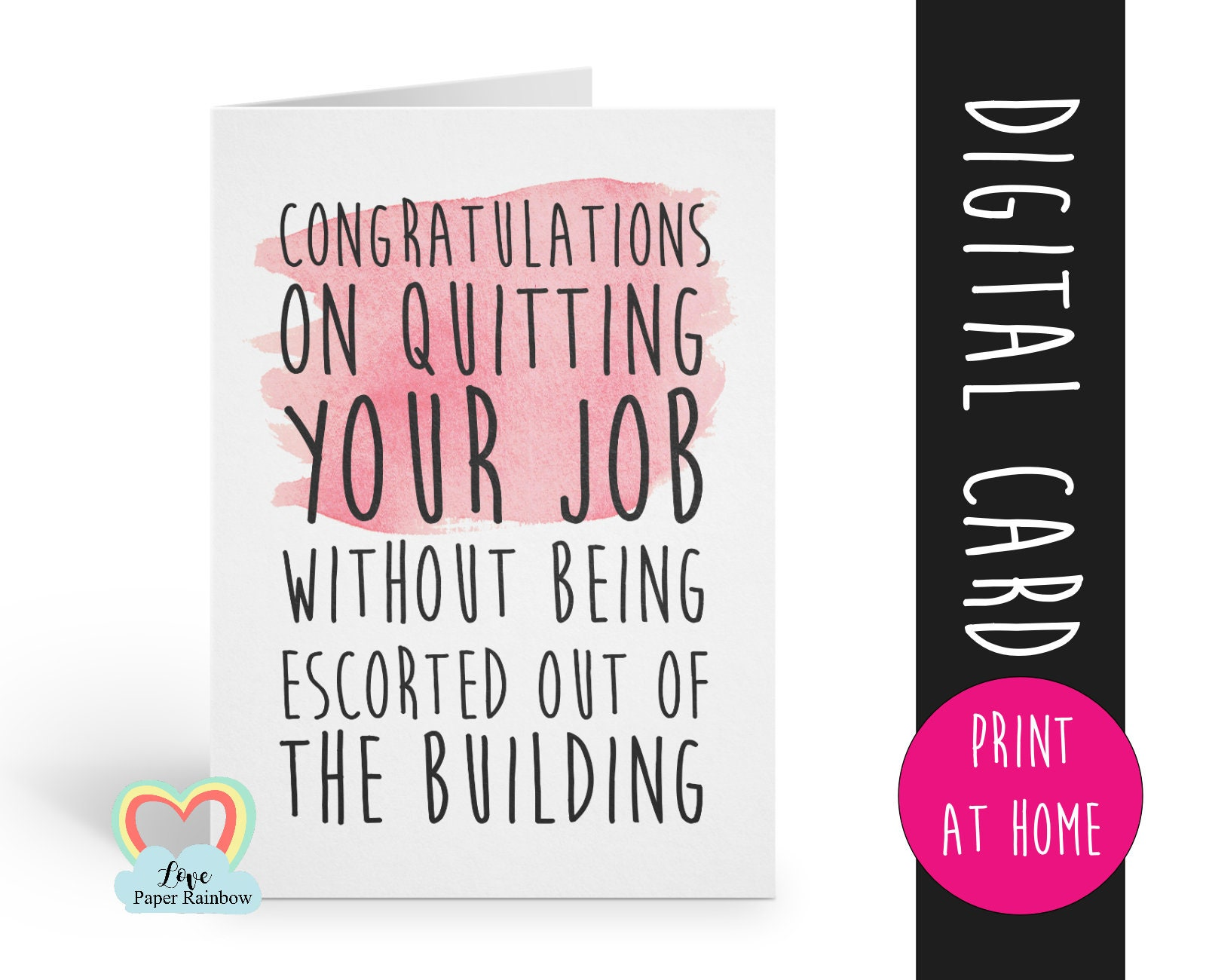 printable leaving card printable retirement card funny new