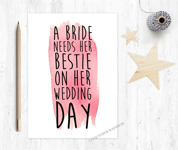 best friend maid of honour card bridesmaid proposal best friend bestie will you be my bridesmaid card maid of honour card love paper rainbow