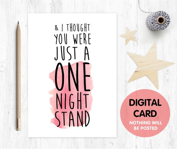 PRINTABLE anniversary card printable valentines day card digital download one night stand card boyfriend card love girlfriend romantic