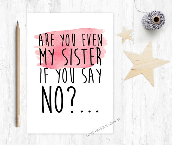 funny godmother proposal will you be my godmother card are you even my sister if you say no love paper rainbow bridesmaid maid of honour