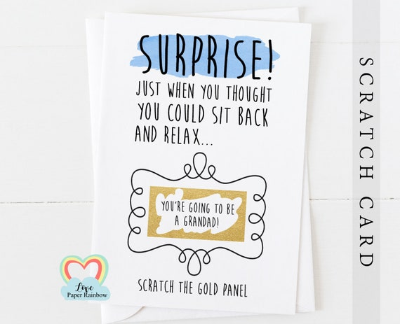 you're going to be a grandad scratch card, pregnancy announcement,  i'm pregnant,  funny pregnancy reveal card, grandad reveal, surprise