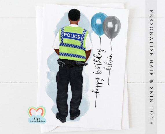 police birthday card, police officer, police officer birthday card, police sergeant, sergeant birthday card, Detective Constable