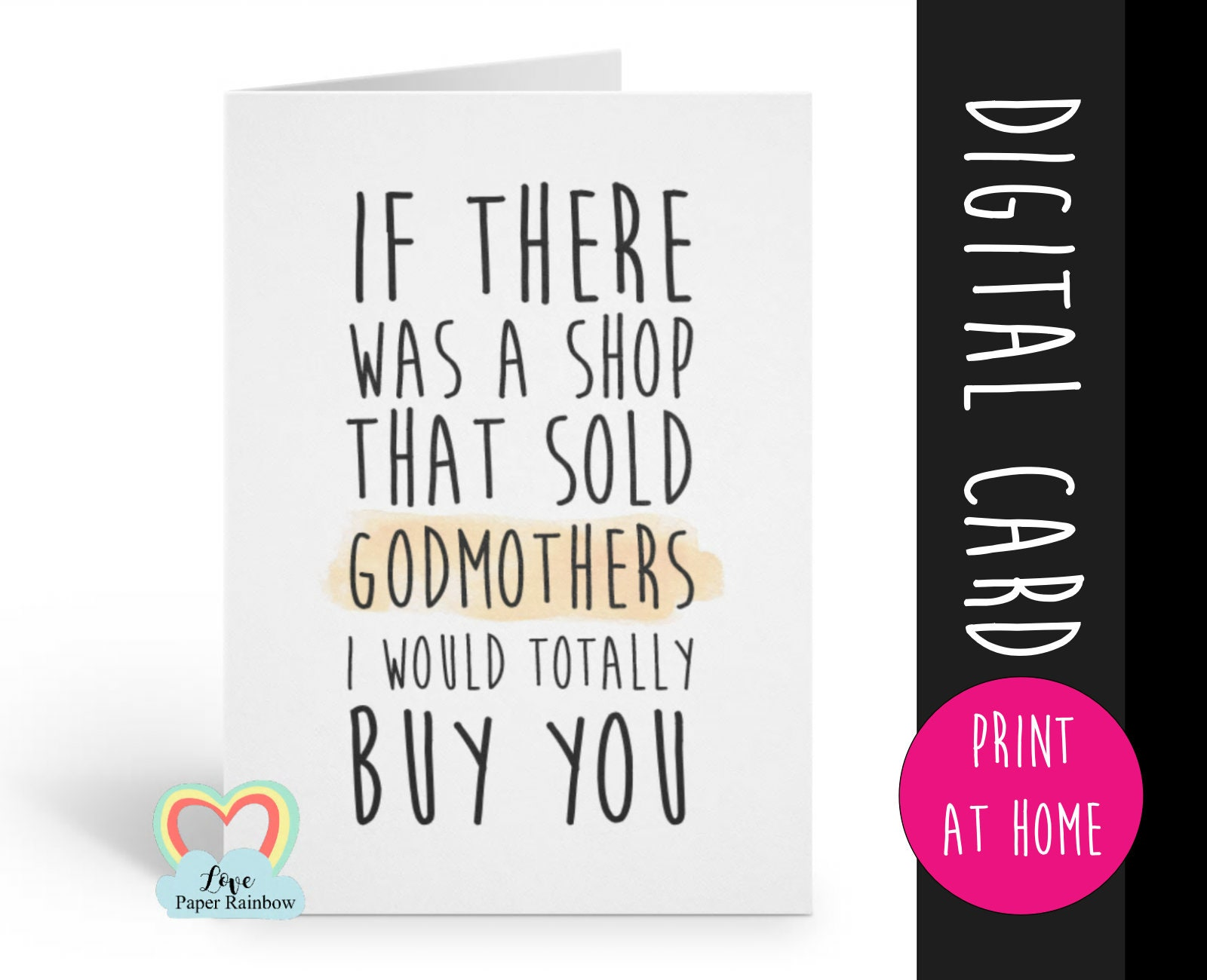 Will You Be My Godmother Card Printable Godmother Proposal