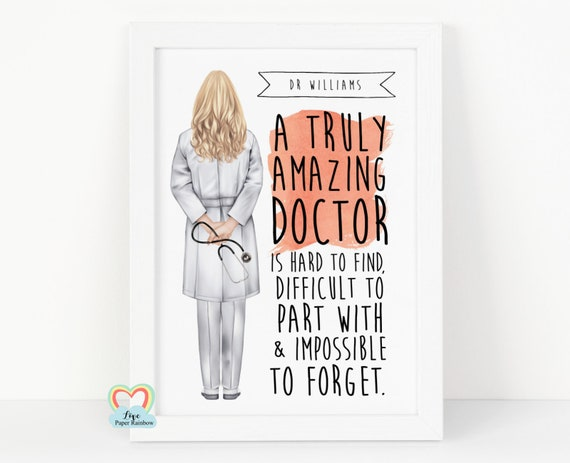 doctor retirement gift, doctor retirement print, a truly amazing doctor is hard to find, doctor birthday gift, doctor thank you gift